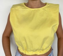 Cropped Yellow Jeans ombreiras