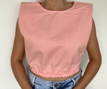 Cropped Peach Jeans ombreiras